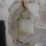 Piscina inside All Saint's Church, Buncton, West Sussex