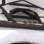 Roof beams inside All Saint's Church, Buncton, West Sussex