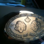Jelly mold with Princesses Elizabeth and Margaret
