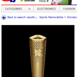 Olympic Torch on eBay 2012
